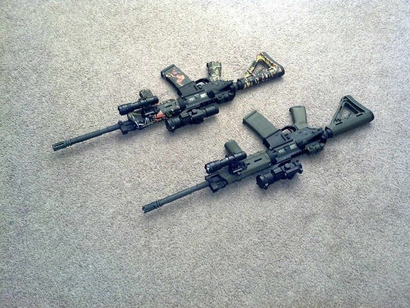 His and hers MOE carbines.jpg